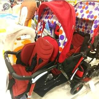 REDUCED! Double Stroller from $200