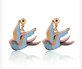 Anting Color Drops Of Oil Swallows Soft Style