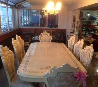 Fine Wood Luxurious Dining Set For Sale!!!