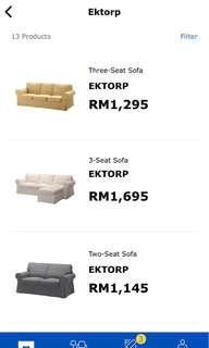Ikea Ektorp sofa 15% discount