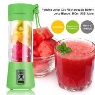 READY STOCK! NEW 4 BLADE Portable USB Rechargeable Battery Juice Blender