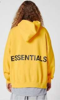 Fear of god essentials fog graphic hoodie