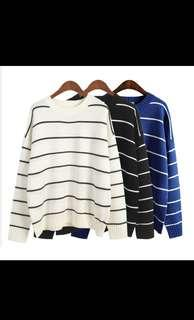 Cream stripe sweater