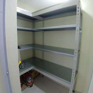 Full metal L shape storage rack (no middle beam)