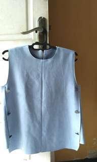suede aqua blue tank top
