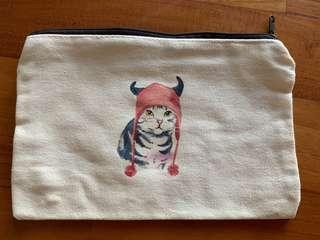 Pouch with Cat print