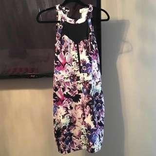 PRICE DROP!! Bebe Purple Floral Dress Size M