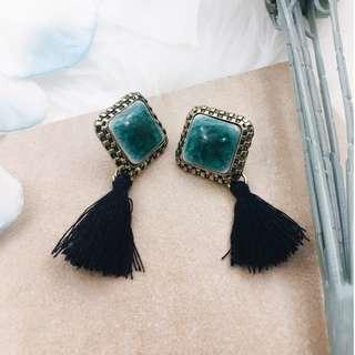 Mineral Tassel Earrings