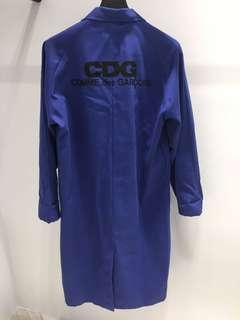 🚚 Comme des Garçons GOOD DESIGN SHOP 工作服 長版大衣 藍 M 號