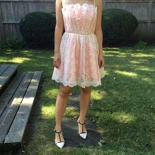 NBW Topshop Pink Lace Formal Dress