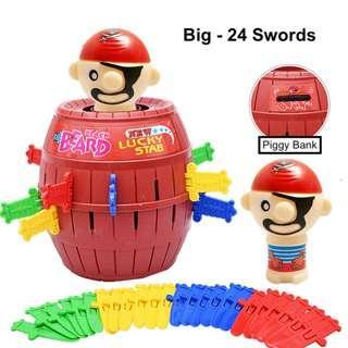 Pirate Barrel Roulette Running Man Game