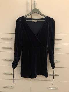 Urban Outfitters Velvet Romper Dress