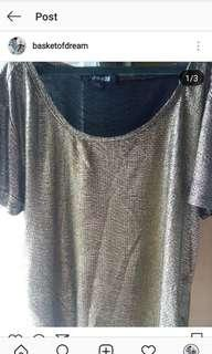 Forever 21 gold metallic top