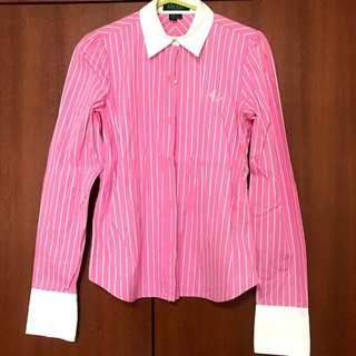 (USA) Ralph Lauren Pink striped blouse