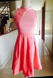 Pink Cheongsam Dress
