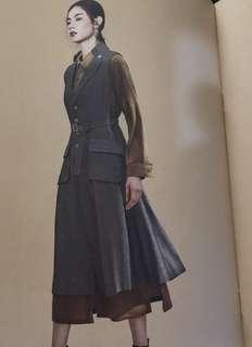 (徵)Initial 背心灰色全身裙1碼