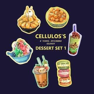 LAPTOP STICKER PACK (Dessert set 1)