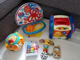 7 x Baby and kids toys (Vtech, Chicco, Plantoys, ball pit, Baby color etc)