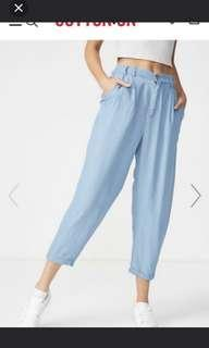 Babyblue Tapered Long Pants