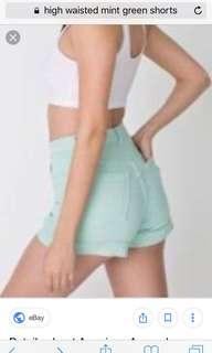 Mint High-waisted shorts size 14.