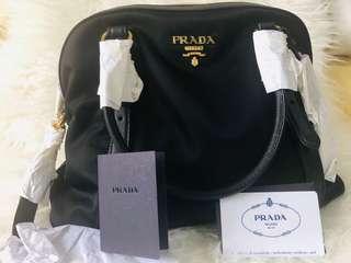 Prada Tessuto + Saffian Bag