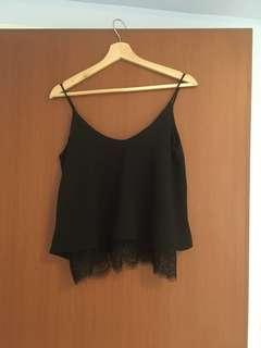 🚚 Black Top with lace from Bridge by Fashion Mob
