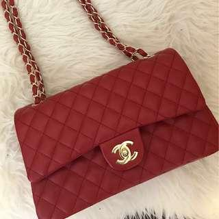 *PRICE DROP* Chanel red quilted classic double flap bag