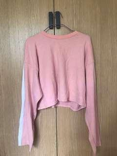Pink Pullover Crop Top