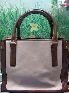 Fossil Claire Satchel Pink Multi (Authentic)