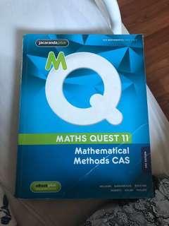 Maths quest 11 and cas calculator companion