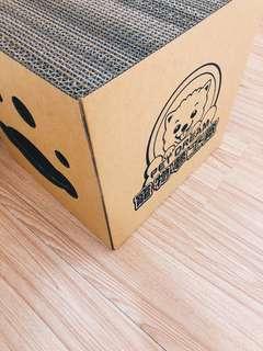 🚚 《全新現貨》MIT寵物夢工廠耐抓貓抓屋 貓抓屋 內含四片貓抓板 貓磨爪 貓抓 貓玩具 貓窩 貓床