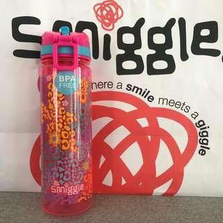 Smiggle PINK FLOWER Drink Bottle LARGE 650ml