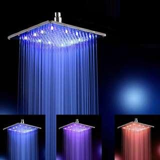 2019 Latest Design Led Shower Head Color Changing Shower Head No Battery Bathroom Accessories Turn On The Water Source And Turn On The Light Shower Heads 50% OFF