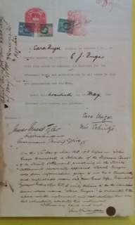Original 1913 court document