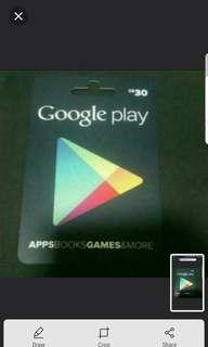 5 Percent Off Google Play Card (Sgd)