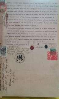 Original singapore court document 1910