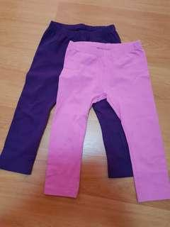 2 x Mothercare Legging Pants