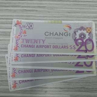 Voucher Changi 20 sgd each ada 5 voucher