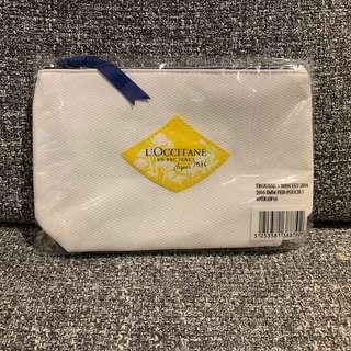 全新 L'Occitance 白色化粧袋