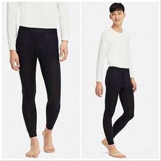 Preloved Uniqlo Men heattech tights - black