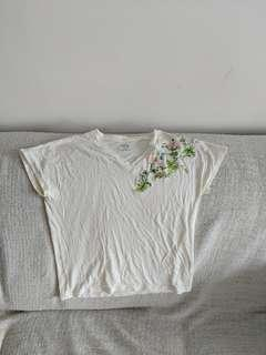 Uniqlo embroidered top