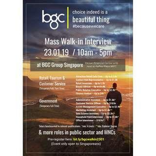 Mass Walk In Interview For Singaporeans (ADMIN)