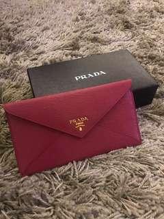 ebc7f235a4a4 Prada Vitellomove Leather Envelope Wallet