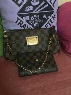 LV Eva and Wallet set