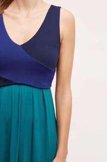 Color block elegant maxi dress