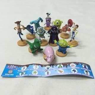 免運 全12款 日本皮克斯巧克力蛋公仔 玩具總動員 怪獸電力公司 海底總動員 含 隱藏版 巴斯