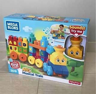Free Delivery Brand New Mega Bloks ABC Musical Train Building Set