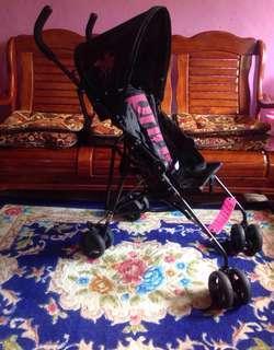 Stroller Black Pink