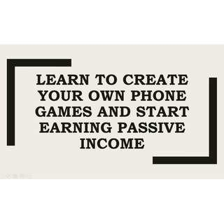 Learn how to build your very own game application from the very best trainers and start learning passive income