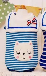 淺藍色 水手裝 貓咪狗狗衣服